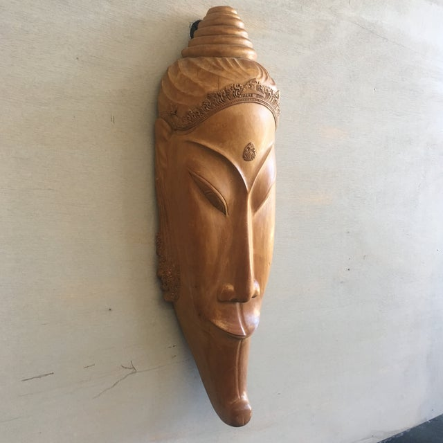 Southeast Asian Hand Carved Tribal Mask - Image 3 of 11