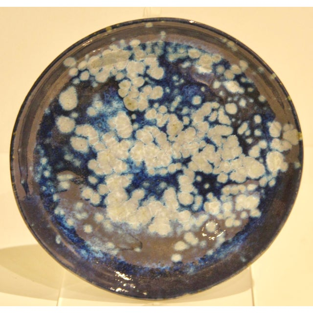 Modernist Splatter Studio Pottery Dish - Image 3 of 9