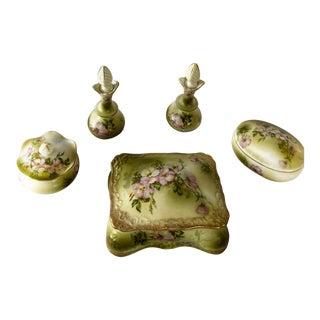 Vintage Nippon Vanity Accessories - Set of 5 For Sale
