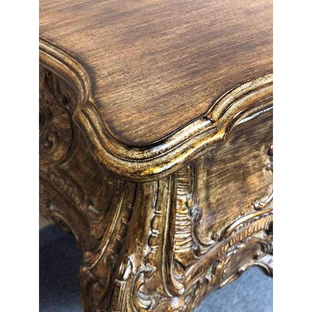 Italian Carved Giltwood Bombay Chest Commode For Sale - Image 4 of 13