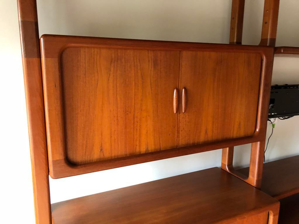 Mid Century Dyrlund Danish Solid Teak Wall Cabinet   Image 12 Of 13