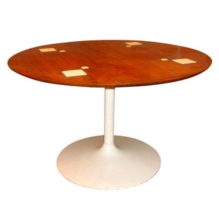 Danish Modern Tulip Dining Card Table For Sale