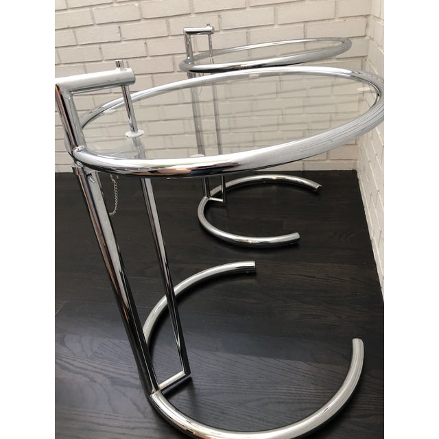 Eileen Gray Inspired Chrome End Tables - a Pair For Sale In Charlotte - Image 6 of 10