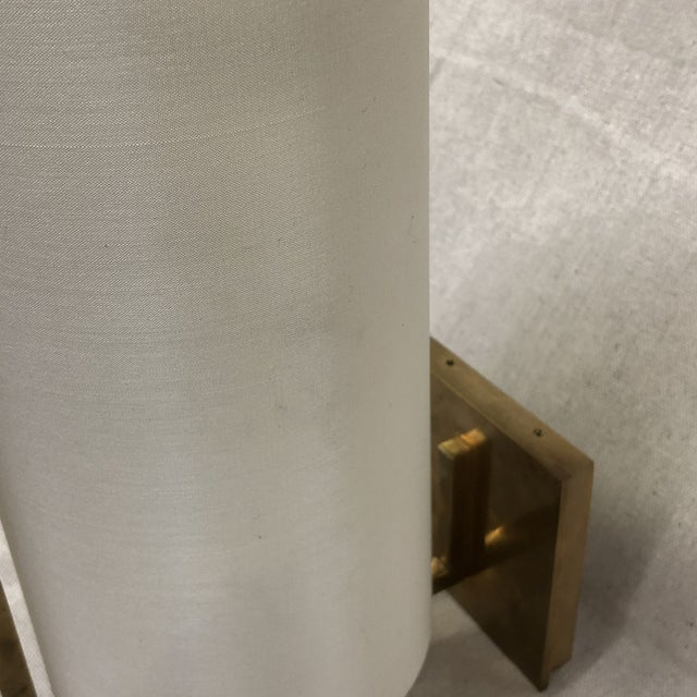 Metal Visual Comfort Framework Wall Sconce in Soft Brass For Sale - Image 7 of 11
