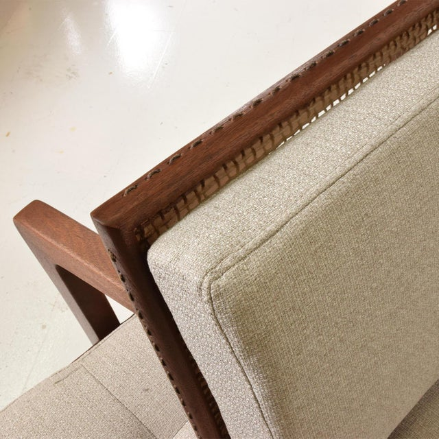 Cotton Mexican Modernist Chaise Lounge Daybed by Charles Allen, Regil De Yucatian For Sale - Image 7 of 8