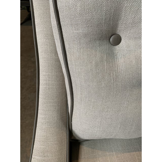 Modern Taupe Leighton Chair For Sale - Image 4 of 5