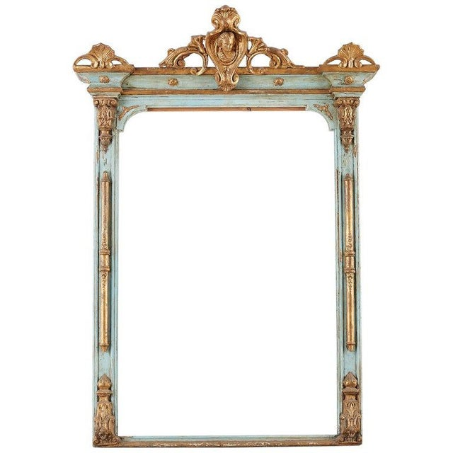 19th Century Venetian Painted Mirror Frame or Picture Frame For Sale - Image 13 of 13