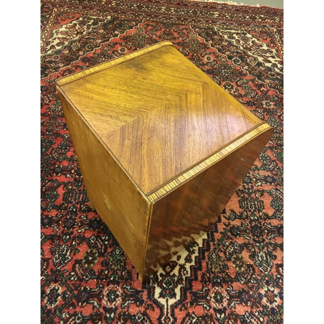 Antique Art Deco Waterfall Style Nightstand - Image 7 of 9