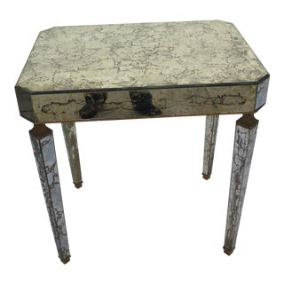 1950's Italian Regency Mirrored Accent/Side Table For Sale