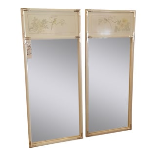 Hollywood Regency Asian Campaign Mirrors - a Pair