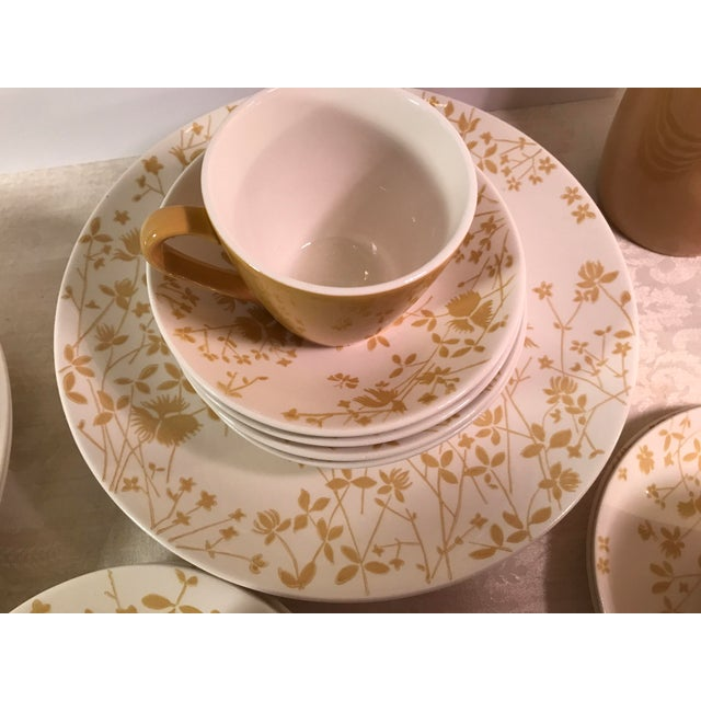 Yellow Sheffield Golden Meadow Ironstone Set - 30 Pieces For Sale - Image 8 of 11