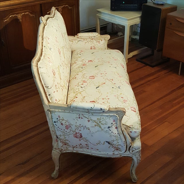 19th Century French Provincial Loveseat Settee For Sale - Image 4 of 10