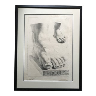 Study of Feet Antique Lithograph For Sale
