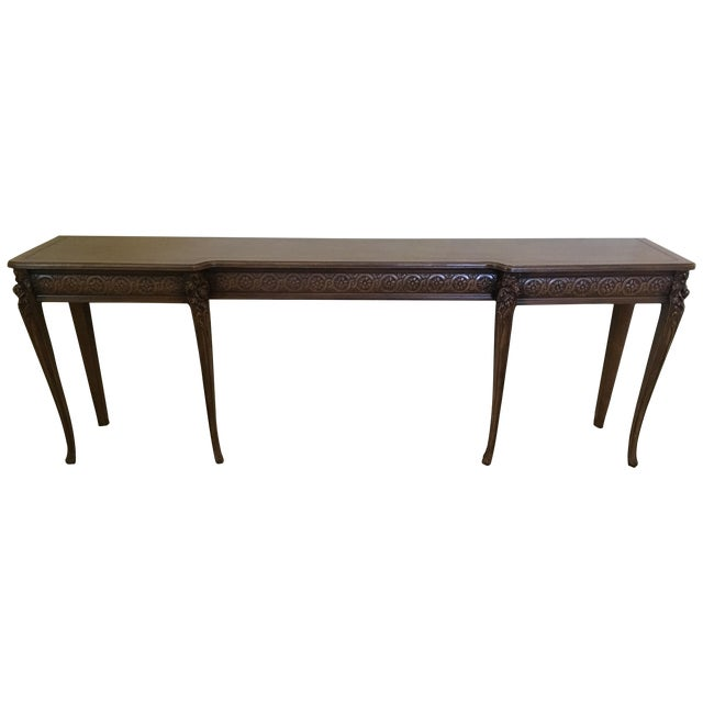 Carved Wood Buffet Table - Image 1 of 6