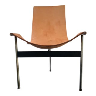 Katavalos Littel and Kelley Leather Sling Chair For Sale