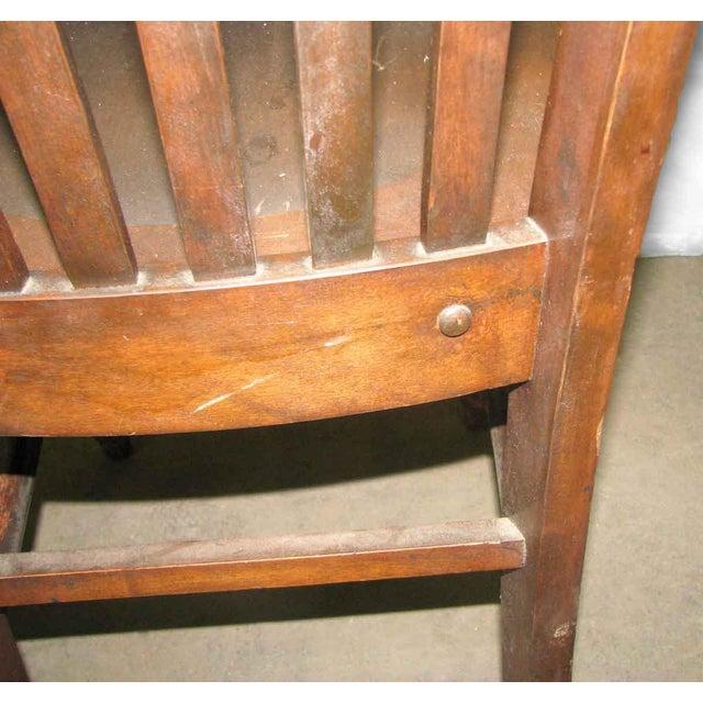 Traditional Original Antique Dark Oak Chair For Sale - Image 3 of 9