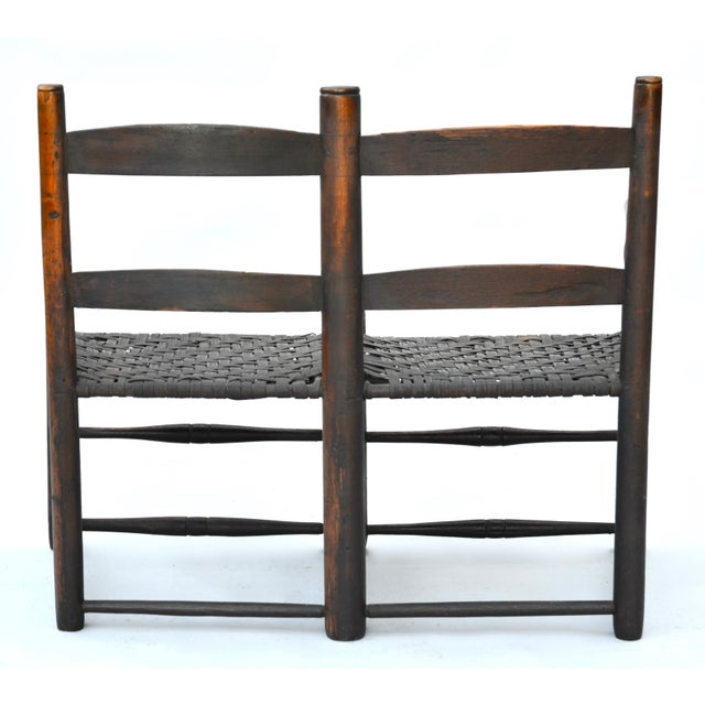 Antique American Hickory Primitive Settee For Sale - Image 4 of 5