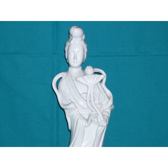 "Flawless XL Chinese Blanc-De-Chine Porcelain Figurine 16"" - Image 3 of 8"
