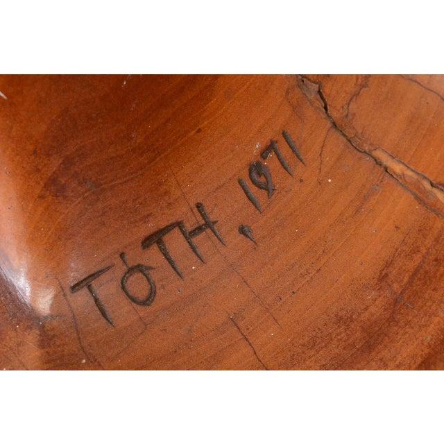 Large Carved Wood Sculpture by Istvan Toth - Image 6 of 8