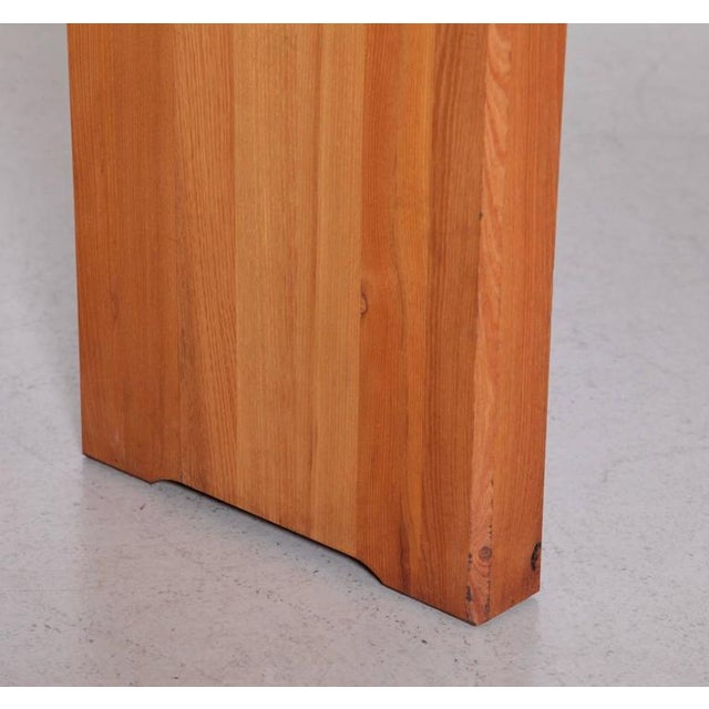 Large Pierre Chapo T19 Dining Table in Solid Elm For Sale - Image 5 of 8