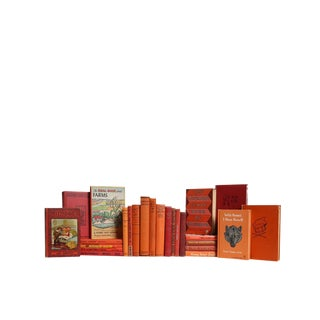 Children's Decorative Book Set in Sunset Shades For Sale