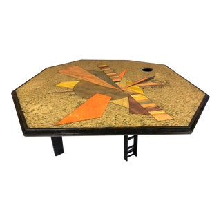 Jay Stanger Inlaid Coffee Table For Sale