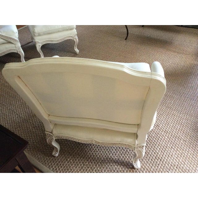Bergere Chairs With Ottoman - Set of 3 - Image 4 of 11