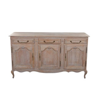 French Limed Oak Buffet For Sale