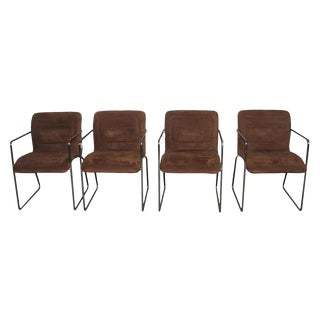 Mid-Century Modern Tubular Chrome Chairs - Set of 4 For Sale