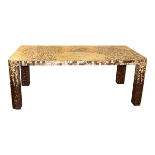 Inlaid Bamboo and Shell Dining Table For Sale