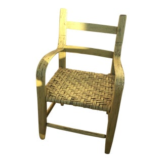 Vintage Folk Art Crafted Shaker Children's Chair For Sale