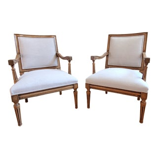 Mid 20th Century Baker Hollywood Regency Chairs - a Pair For Sale