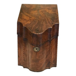 19th Century Wood Knife / Letter Box For Sale
