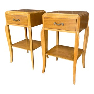 1960s Traditional Rway Nightstands - a Pair For Sale