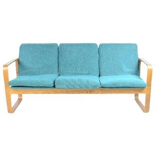 1960s Thonet Turquoise Bentwood Sofa