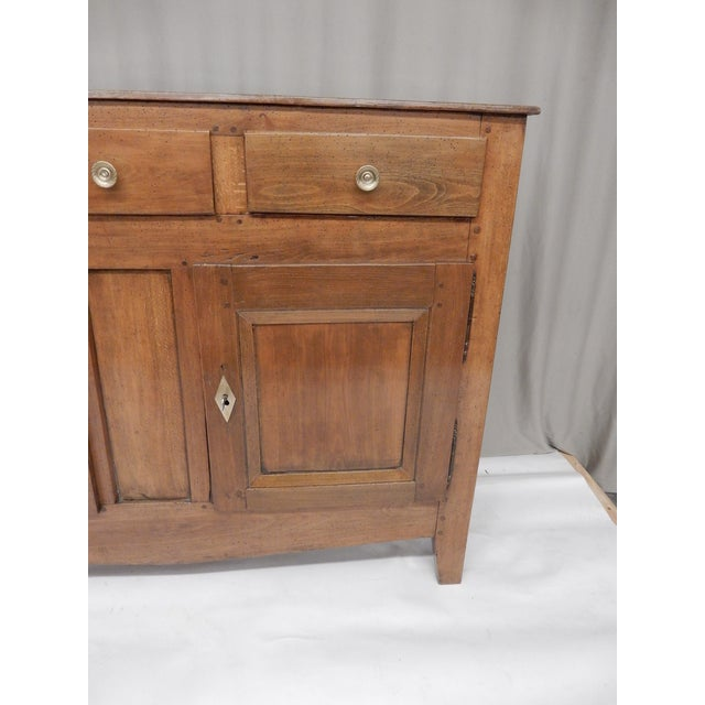 Early 19th Century Narrow French Provincial Walnut Buffet For Sale - Image 5 of 9