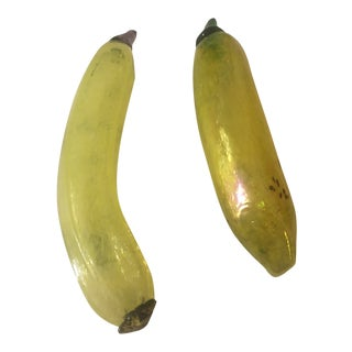 Kosta Boda Frutteria Glass Banana Figurine - a Pair For Sale