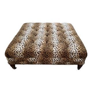 Modern Leopard Print Ottoman For Sale