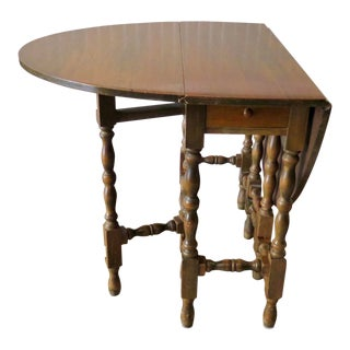 Antique Oval Gate-Leg Table For Sale