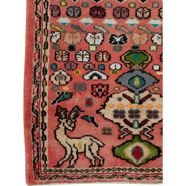 """Islamic Vintage Persian Mahal Rug – Size: 2' 1"""" X 4'4"""" For Sale - Image 3 of 9"""
