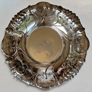 1935 Reed & Barton Art Nouveau Silver Plated Bowl With Lotus Leaves Preview