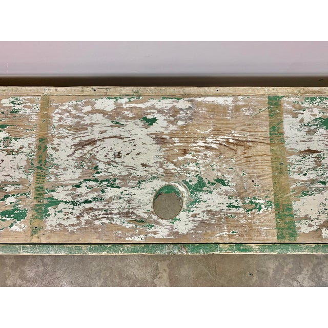 19th C. Swedish Painted Work Style Bench For Sale In Los Angeles - Image 6 of 11