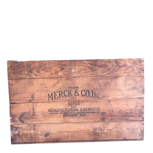 Antique Wooden Merck & Co. Crate - Image 1 of 8