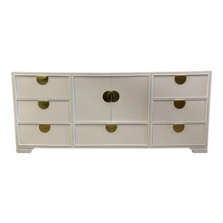 Vintage Italian Console by Thomasville Furniture, Newly Lacquered For Sale