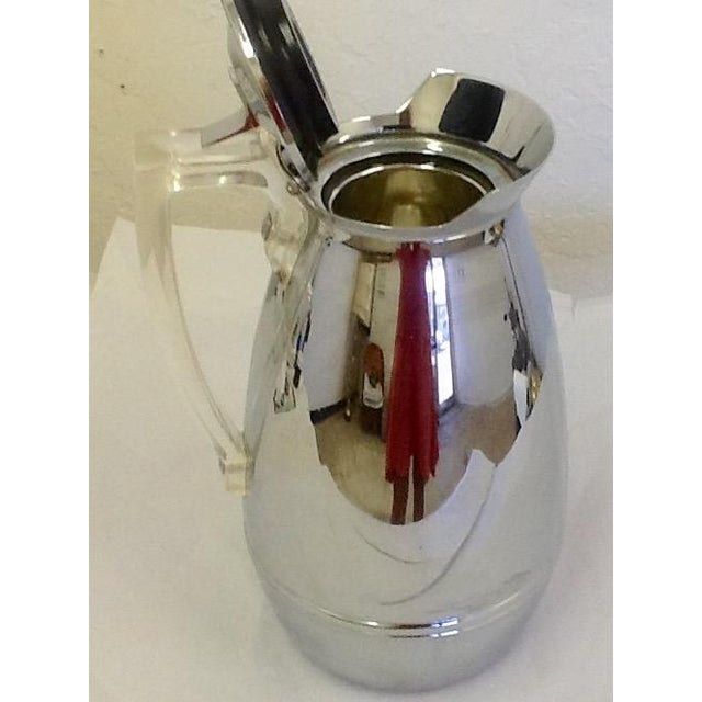 Mid-Century Thermos Silver Color & Lucite Caraffe - Image 5 of 7