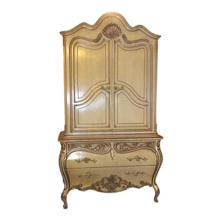 1960's Vintage Romweber French Provincial Armoire For Sale