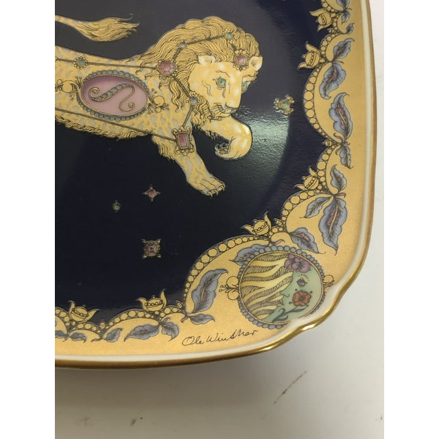 Mid 20th Century Leo Zodiac Porcelain Plate For Sale - Image 5 of 6