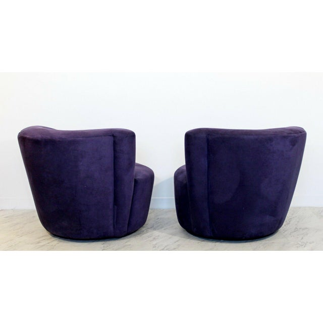 Contemporary 1980s Vintage Contemporary Vladimir Kagan Corkscrew Swivel Chairs- A Pair For Sale - Image 3 of 9