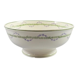 French Longwy Serving Bowl For Sale