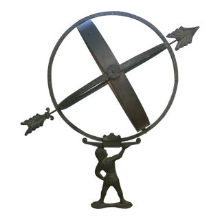 1960s Bronze Armillary Sun Dial Attributed to Sune Rooth For Sale